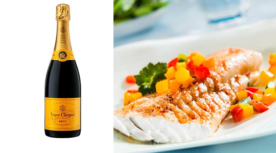 Recette champagne Veuve Clicquot Brut Carte Jaune