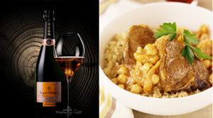Mariage culinaire Veuve Clicquot Vintage Rosé, tajine d'agneau et homard bleu