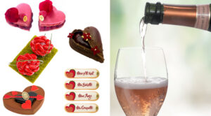 Champagne et gourmandises pour la Saint-Valentin