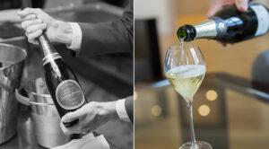 Ouvrir une bouteille de champagne
