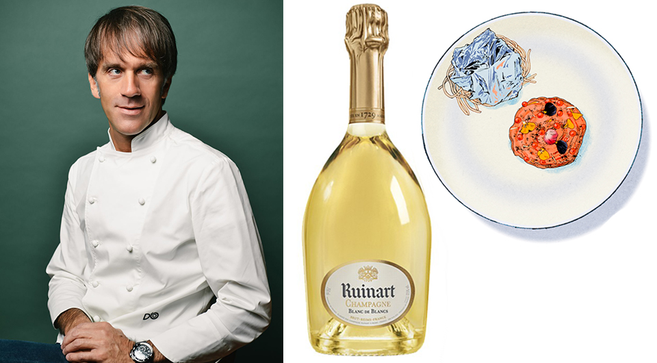 Le Blanc de Blancs Ruinart passe à table avec la recette du Chef Davide Oldani