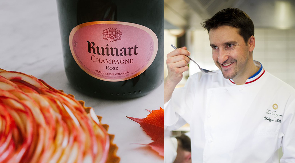 Recette champagne Ruinart Rose Philippe Mille