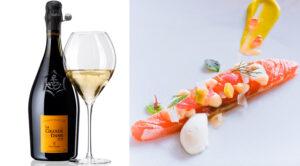 L'accord parfait Champagne Veuve Clicquot La Grande Dame et Gravlax de saumon à la mousse d'avocat