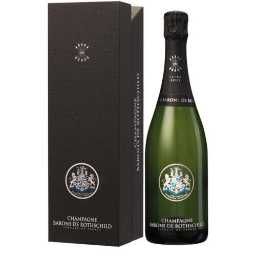 Champagne Barons de Rothschild Extra Brut bouteille avec étui - Champmarket