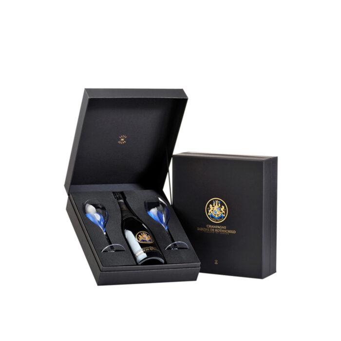 Champagne Barons de Rothschild Coffret Tête-à-tête Brut 1 bouteille et 2 verres - Champmarket