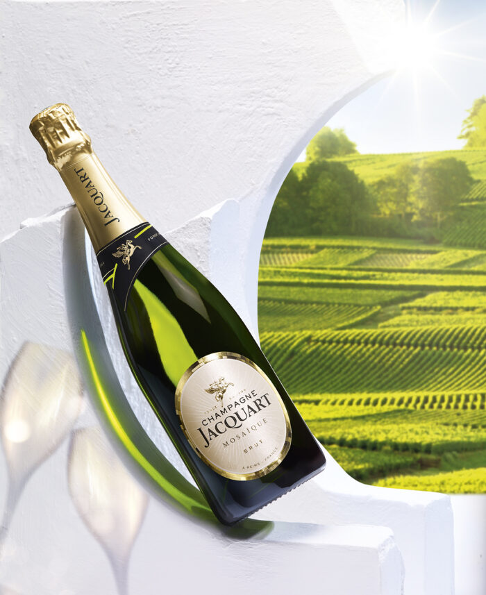 Champagne JACQUART Mosaique Brut Bouteille avec etui - Champmarket