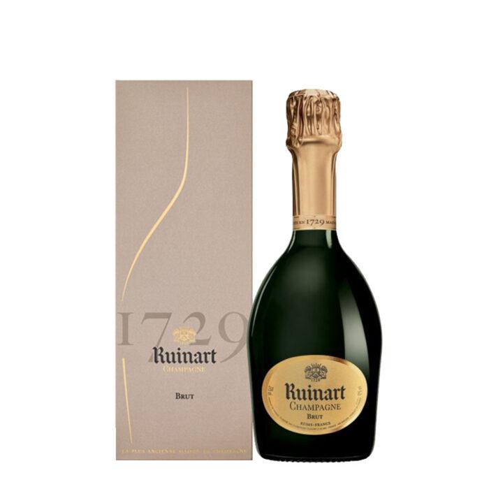 Champagne Ruinart R demi-bouteille avec étui - Champmarket