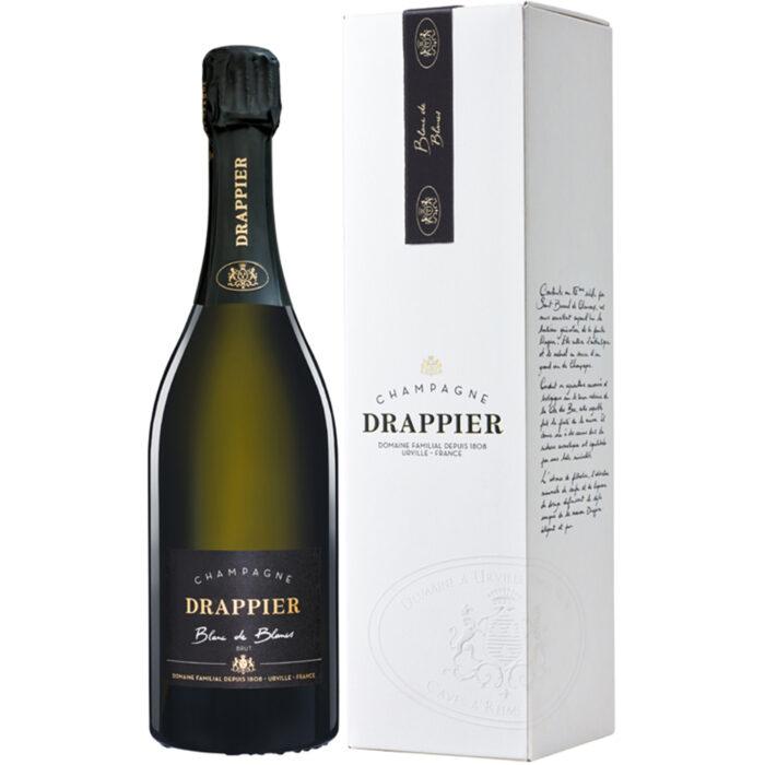 Champagne Drappier Blanc de Blancs bouteille avec étui - Champmarket