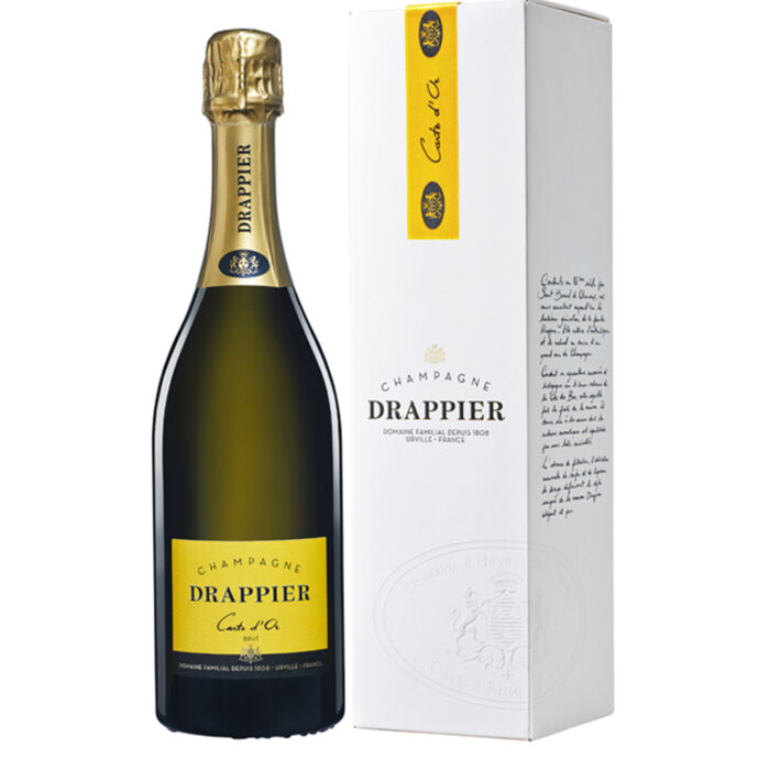 Champagne Drappier Carte d'Or Bouteille avec étui - Champmarket