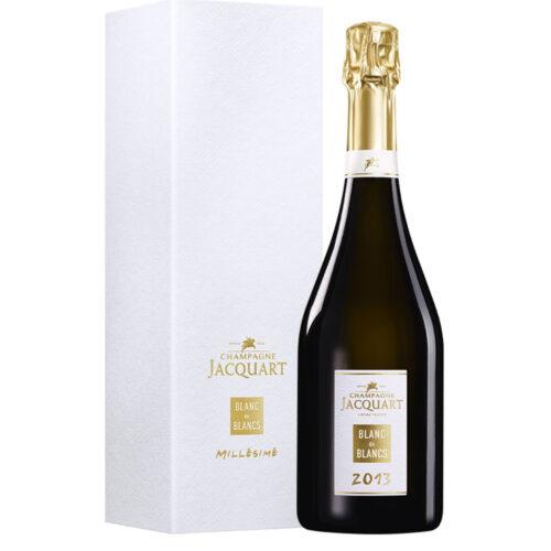 Champagne Jacquart Blanc de Blancs Millésime 2013 bouteille avec coffret - Champmarket