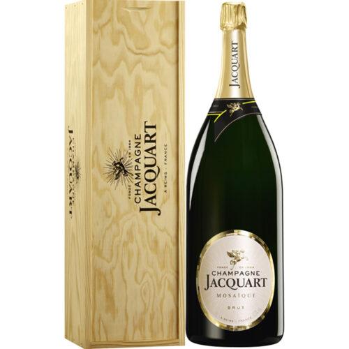 Champagne Jacquart Mosaïque Brut Balthazar avec caisse bois - Champmarket