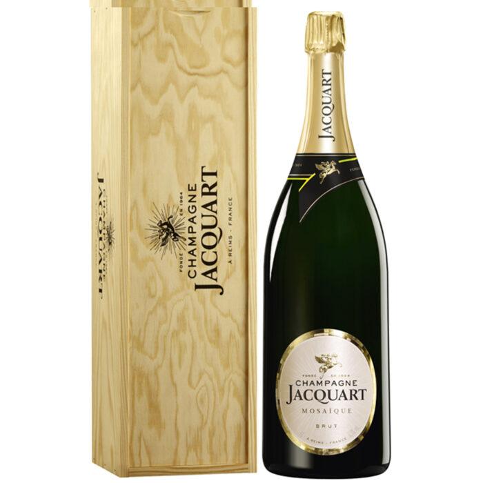 Champagne Jacquart Mosaïque Brut Jéroboam Caisse Bois - Champmarket