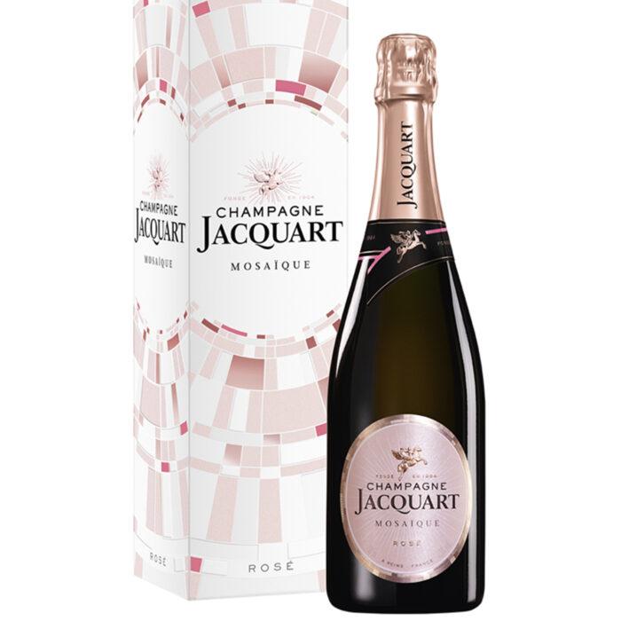 Champagne Jacquart Mosaïque Rosé Bouteille avec étui - Champmarket