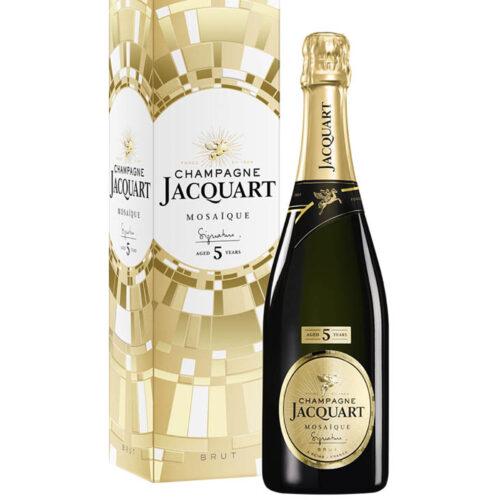 Champagne Jacquart Mosaïque Signature 5 ans d'âge bouteille avec étui - Champmarket