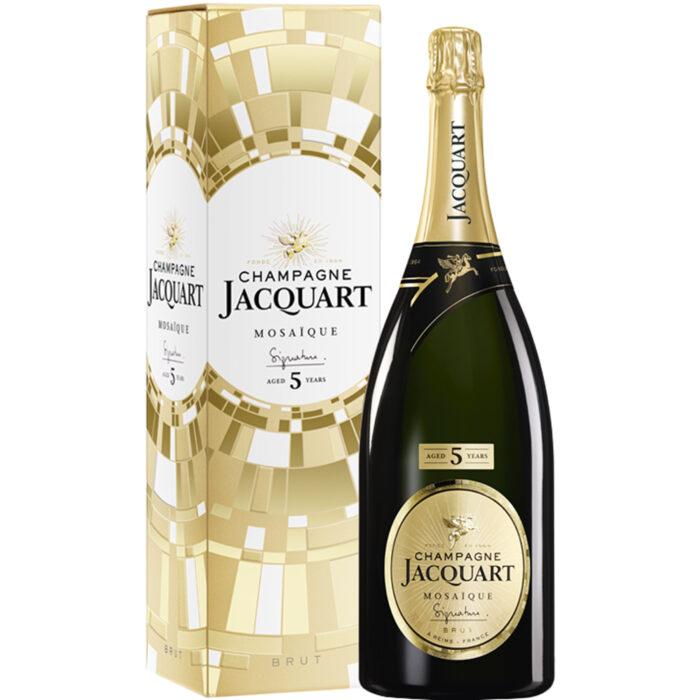 Champagne Jacquart Mosaïque Signature 5 ans d'âge Magnum avec étui - Champmarket