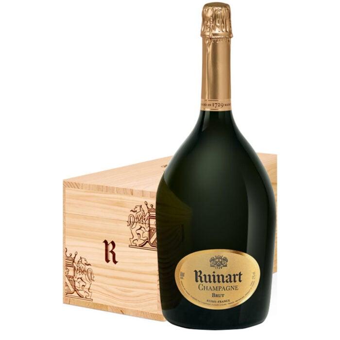 Champagne Ruinart R Jéroboam avec Caisse Bois - Champmarket