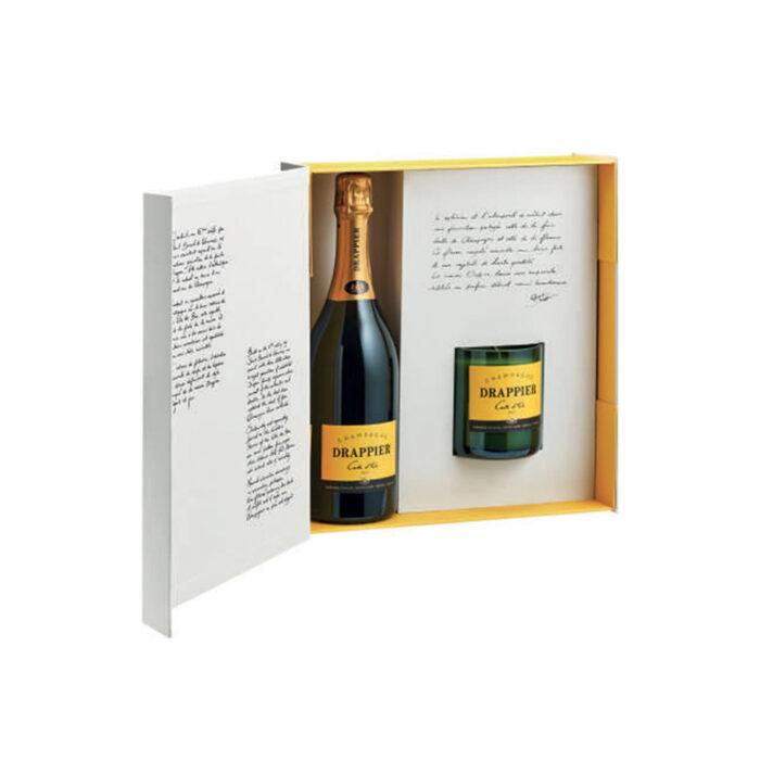 Drappier Carte d'Or Coffret Incandescence Bouteille et Bougie - Champmarket