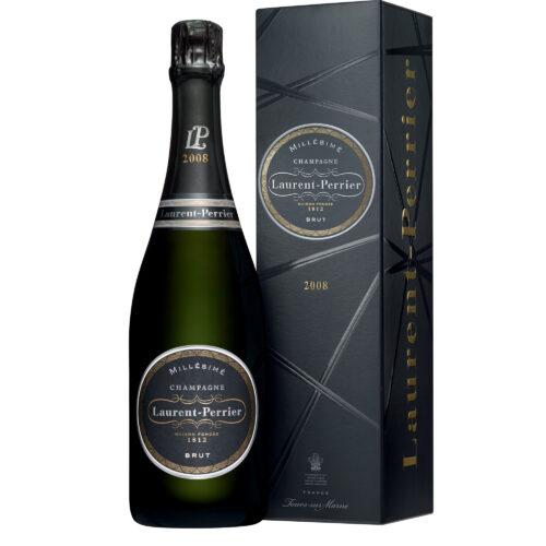 Champagne Laurent-Perrier Brut Millésime 2008 bouteille avec étui - Champmarket