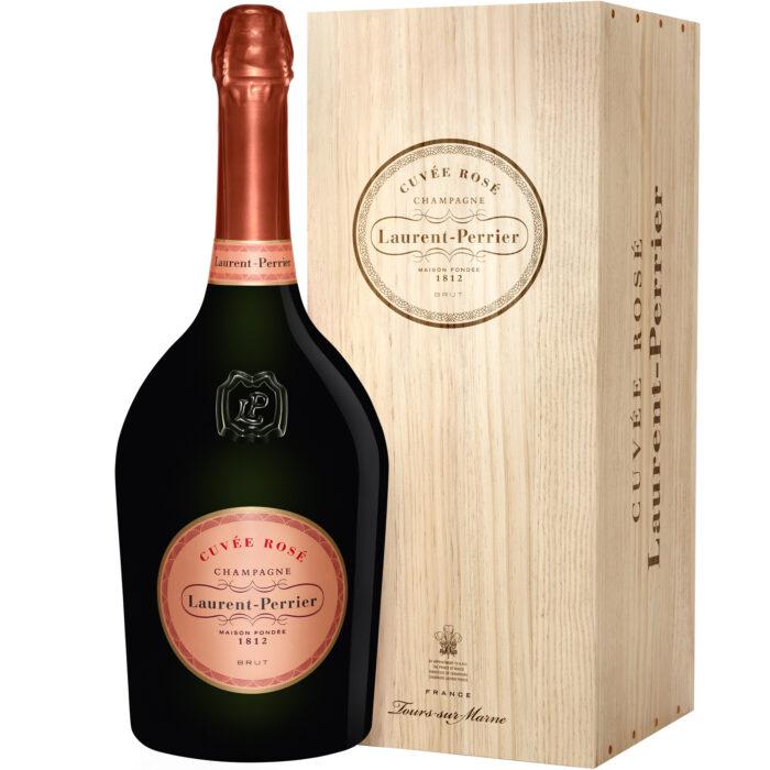 Champagne Laurent-Perrier Cuvée Rosé Jéroboam avec Caisse Bois - Champmarket