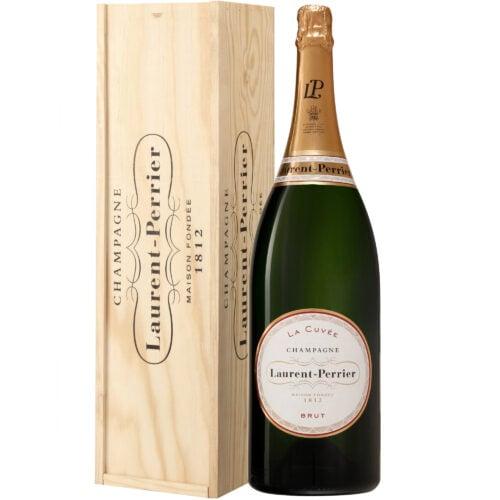 Champagne Laurent-Perrier La Cuvée Jéroboam avec Caisse Bois - Champmarket