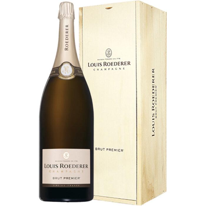 Champagne Louis Roederer Brut Premier Jéroboam avec Caisse Bois - Champmarket
