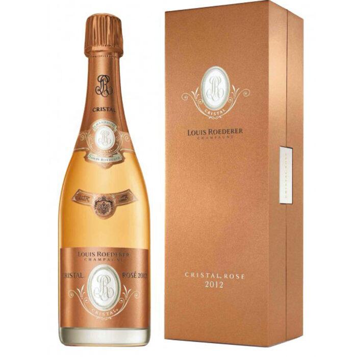 Champagne Louis Roederer Cristal Rosé Millésimé 2012 bouteille avec coffret - Champmarket