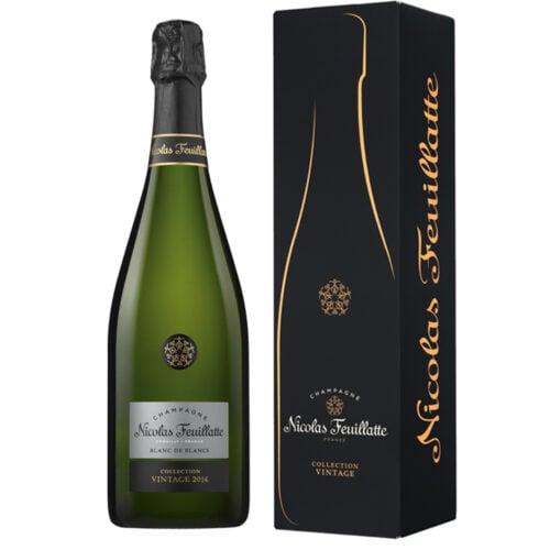 Champagne Nicolas Feuillatte Collection Vintage Blanc de Blancs 2014 Bouteille avec étui - Champmarket