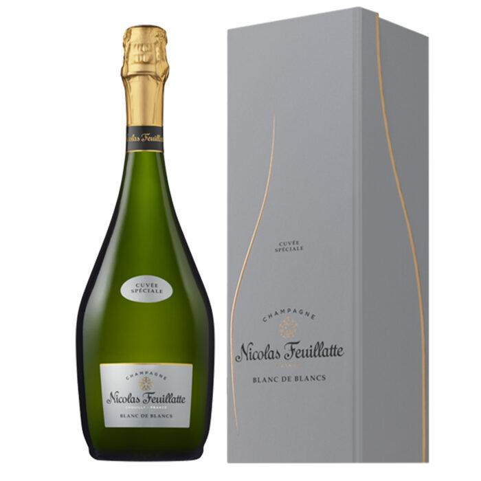Champagne Nicolas Feuillatte Cuvée Spéciale Blanc de Blancs Bouteille avec coffret - Champmarket