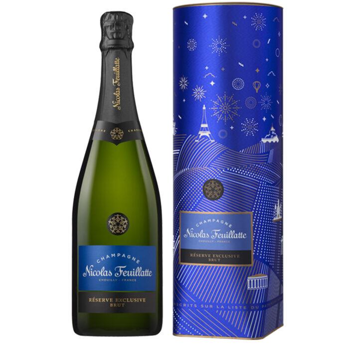 Champagne Nicolas Feuillatte Réserve Exclusive Brut Bouteille Coffret métal - Champmarket
