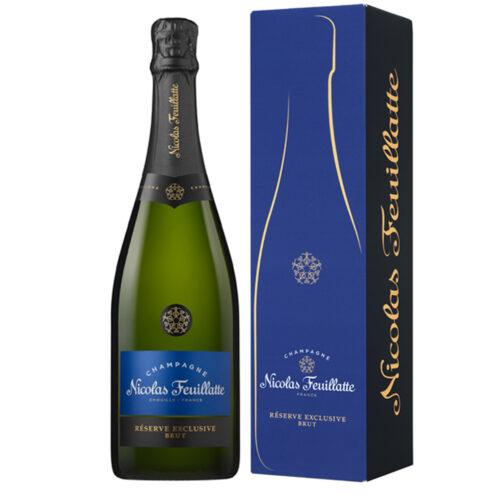 Champagne Nicolas Feuillatte Réserve Exclusive Brut Bouteille avec étui - Champmarket