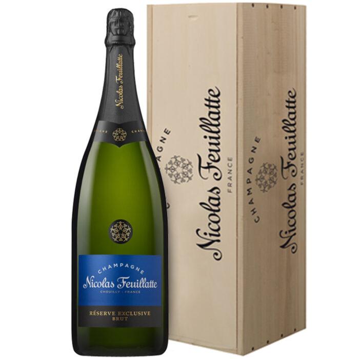 Champagne Nicolas Feuillatte Réserve Exclusive Brut Jéroboam avec Caisse Bois - Champmarket