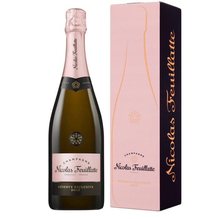 Champagne Nicolas Feuillatte Réserve Exclusive Rosé Bouteille avec étui - Champmarket