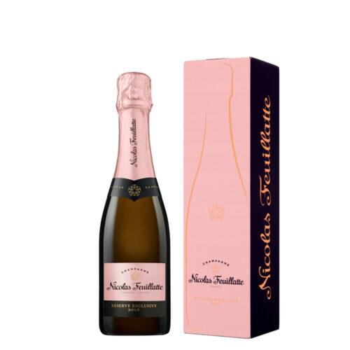 Champagne Nicolas Feuillatte Réserve Exclusive Rosé demi-bouteille avec étui - Champmarket