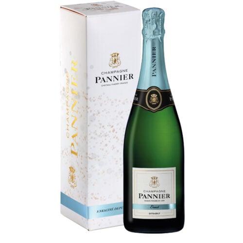 Champagne Pannier Extra Brut Exact Bouteille avec étui - Champmarket