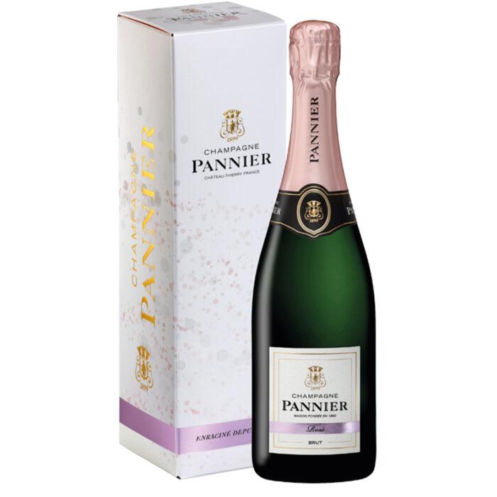 Champagne Pannier Brut Rosé Bouteille avec étui - Champmarket