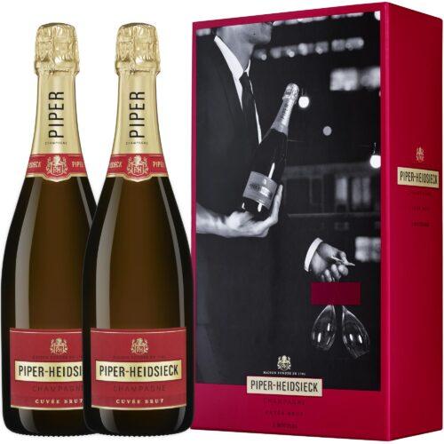 Champagne Piper-Heidsieck Cuvée Brut Coffret Duopack 2 Bouteilles - Champmarket