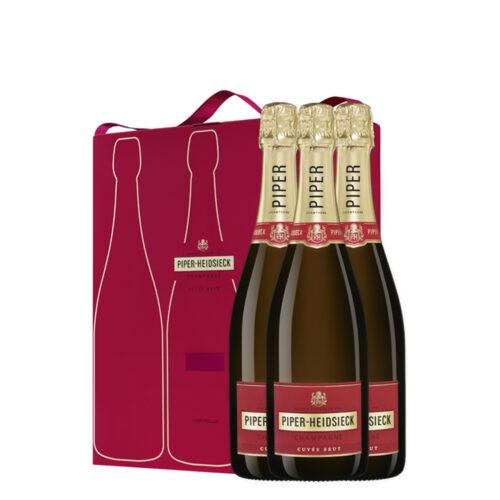 Champagne Piper-Heidsieck Cuvée Brut Coffret Tripack - Champmarket