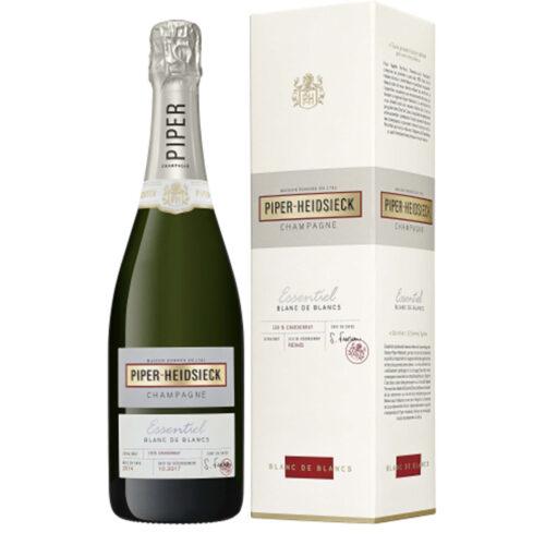 Champagne Piper-Heidsieck Essentiel Blanc de Blancs Extra Brut bouteille avec étui - Champmarket