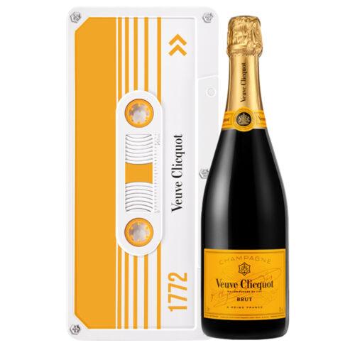 Champagne Veuve Clicquot Yellow Label Coffret Clicquot Tape Bouteille - Champmarket