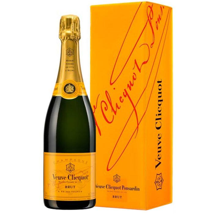 Champagne Veuve Clicquot Brut Carte Jaune Bouteille avec étui - Champmarket