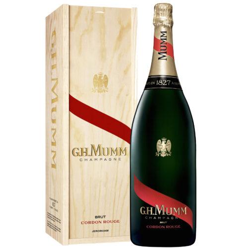 Champagne Mumm Cordon Rouge Brut Jéroboam avec coffret bois - Champmarket