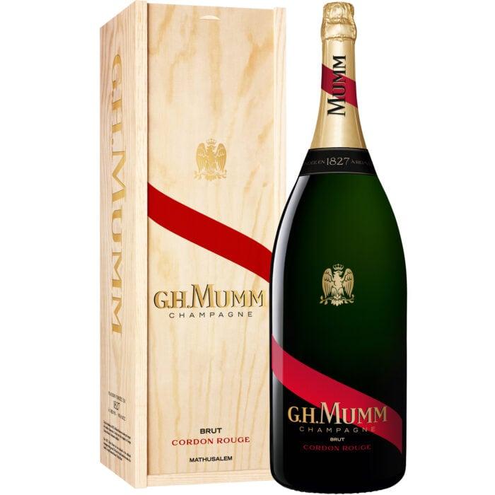 Champagne Mumm Cordon Rouge Brut Mathusalem avec coffret bois - Champmarket