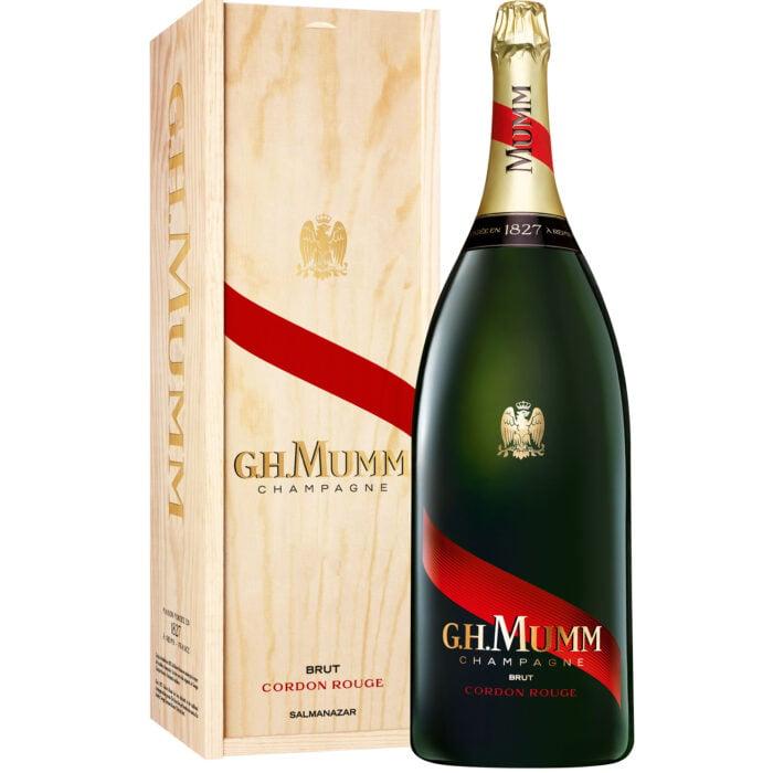 Champagne Mumm Cordon Rouge Brut Salmanazar avec coffret bois - Champmarket