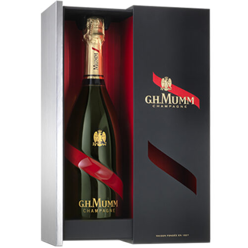 Champagne Mumm Grand Cordon bouteille avec coffret Prestige - Champmarket