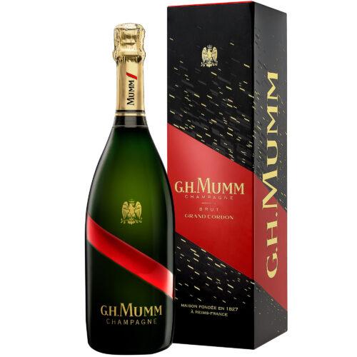 Champagne Mumm Grand Cordon bouteille avec étui - Champmarket