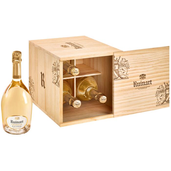 Champagne Ruinart Blanc de Blancs Caisse Cave 4 Bouteilles - Champmarket