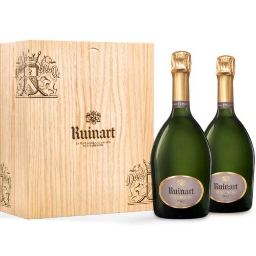 Champagne Ruinart R Brut Coffret Duo 2 Bouteilles - Champmarket
