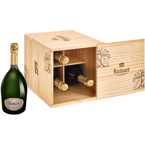 Champagne Ruinart R Brut Caisse-Cave 4 Bouteilles - Champmarket