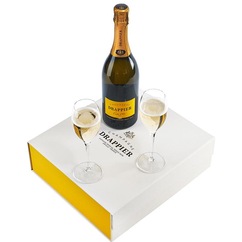 Champagne Drappier Carte d'Or Coffret 2 coupes - Champmarket