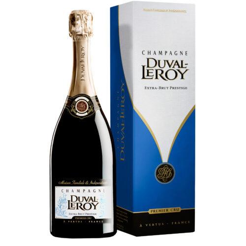 Champagne Duval-Leroy Prestige Extra Brut Bouteille avec étui - Champmarket
